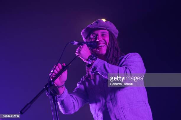 English singer and songwriter John Paul Cooper known professionally as JP Cooper performs on stage at Usher Hall on August 29 2017 in Edinburgh...