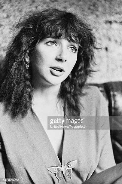English singer and songwriter Kate Bush pictured being interviewed in London on 27th September 1979