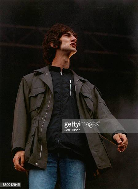 English singer and songwriter Richard Ashcroft performing with alternative rock band The Verve at Haigh Hall Wigan 24th May 1998