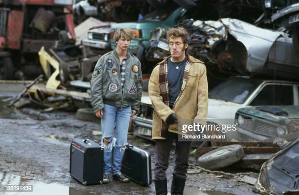 English singer and songwriter Roger Daltrey of The Who stars with pop singer Chesney Hawkes in the film 'Buddy's Song' 1991 Daltrey portrays Hawkes'...