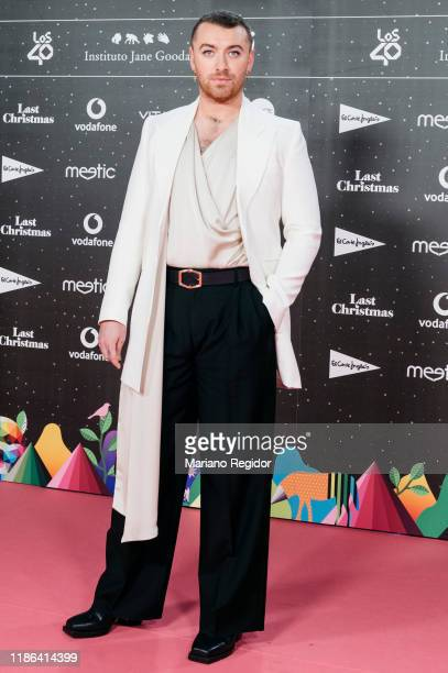 English singer and songwriter Sam Smith attends 'Los40 music awards 2019' photocall at Wizink Center on November 08, 2019 in Madrid, Spain.