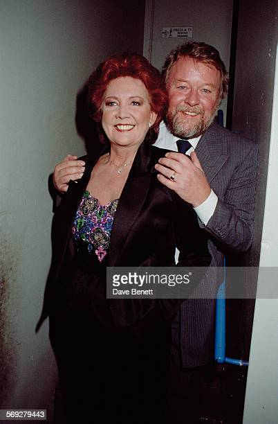 English singer and television presenter Cilla Black and her husband, Bobby Willis, attend The BRIT Awards at the Royal Albert Hall on February 13,...