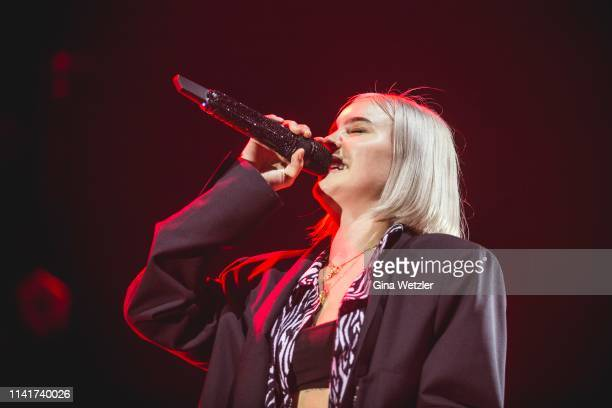 English singer AnneMarie performs live on stage during a concert at Tempodrom on May 6 2019 in Berlin Germany