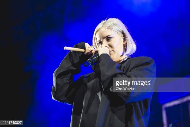 English singer AnneMarie performs live onstage during a concert at Tempodrom on May 6 2019 in Berlin Germany