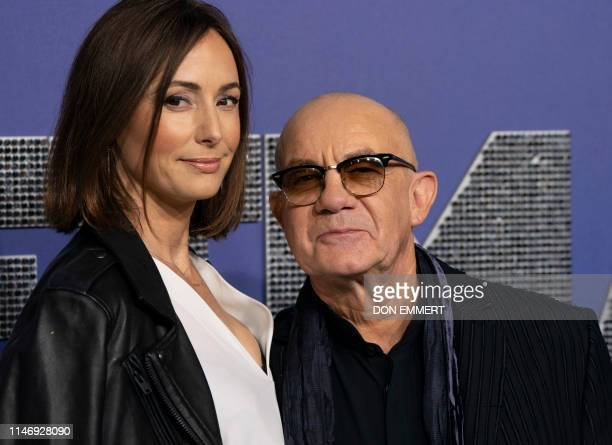 English singer Bernie Taupin and wife Heather Lynn Hodgins Kidd attend the US premiere of Rocketman on May 29 2019 at Alice Tully Hall in New York