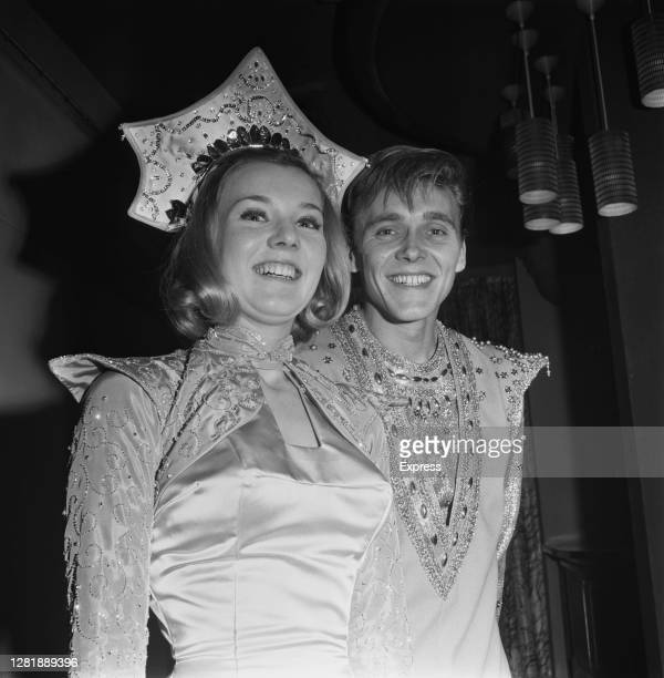 English singer Billy Fury and actress Cheryl Kennedy star together in the Christmas pantomime 'Aladdin' UK December 1965