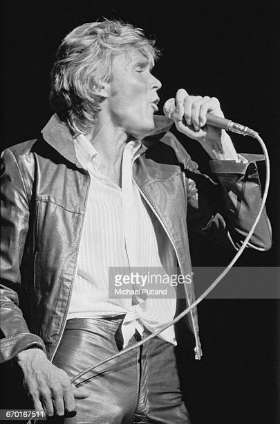 English singer Billy Fury performing at 'Heroes and Villains' the BBC Radio 1 15th birthday concert recorded at the Odeon Hammersmith London 23rd...
