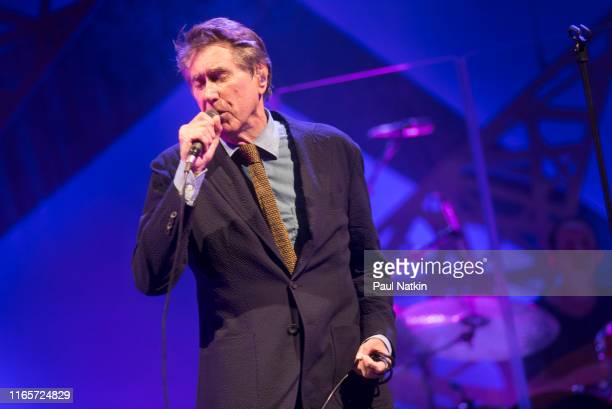 English singer Bryan Ferry performs on stage at the Chicago Theater in Chicago Illinois August 1 2019