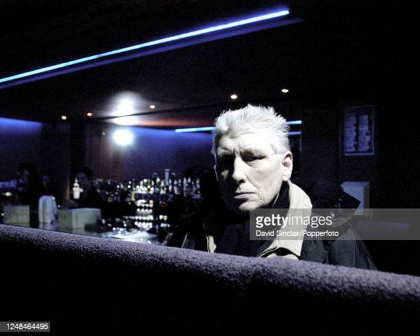 English singer Chris Farlowe posed at the Jazz Cafe in Camden, London on 15th January 2004.