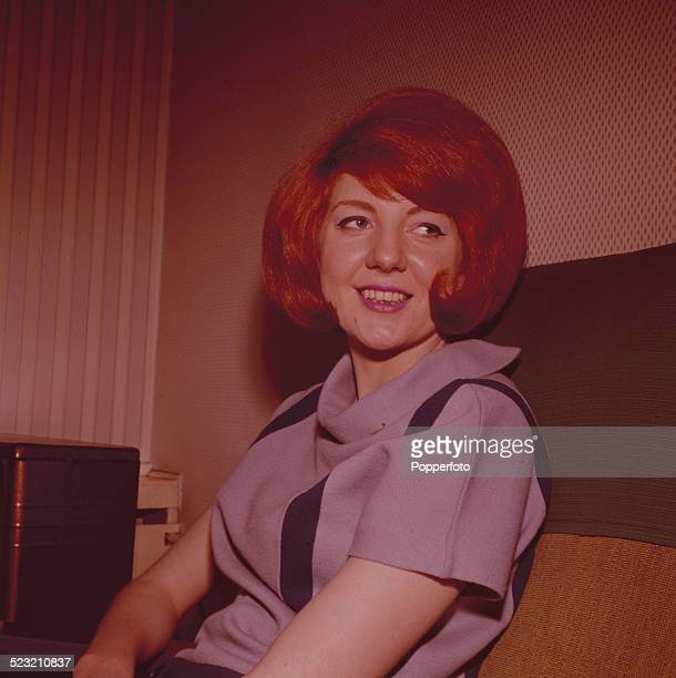 English singer Cilla Black posed backstage during a recording of the television music series 'Thank Your Lucky Stars' at Alpha Television Studios in...