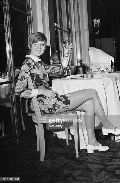English singer Cilla Black relaxing before a show at the Savoy Hotel London 11th June 1968