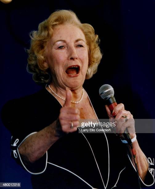 English singer Dame Vera Lynn performing circa 2000