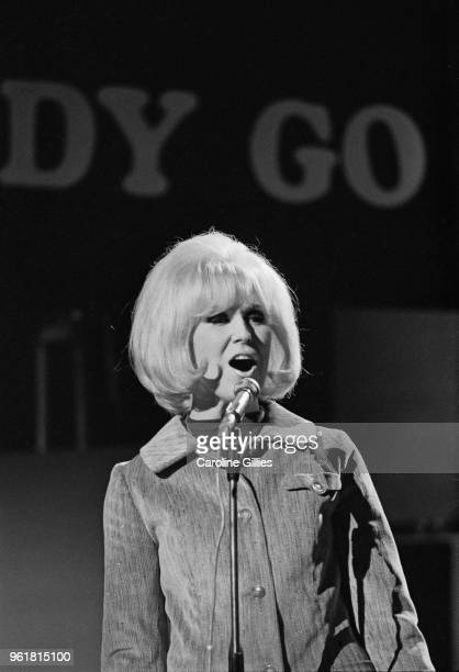 English singer Dusty Springfield appears on television's 'Ready Steady Go' at the Rediffusion Studios on Kingsway London 22nd April 1966