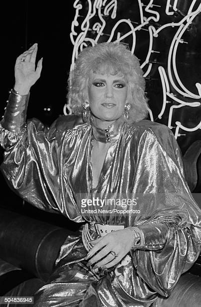 English singer Dusty Springfield performs live on stage in London on 31st July 1985