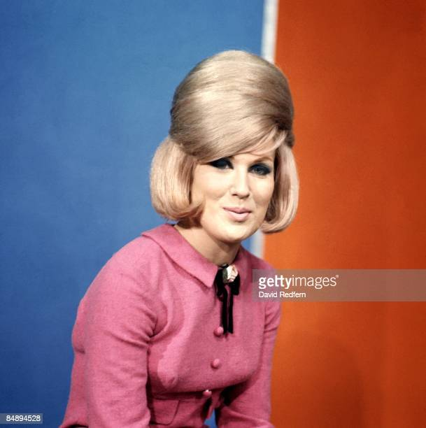 English singer Dusty Springfield , posed on the set of Thank Your Lucky Stars TV show at Aston Studios in Birmingham, England circa 1966.