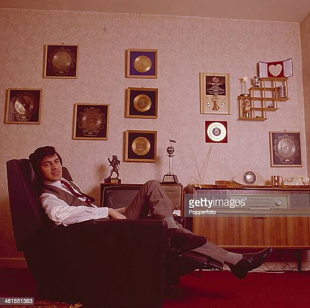 1968 English singer Engelbert Humperdinck posed sitting on a chair at home in 1968