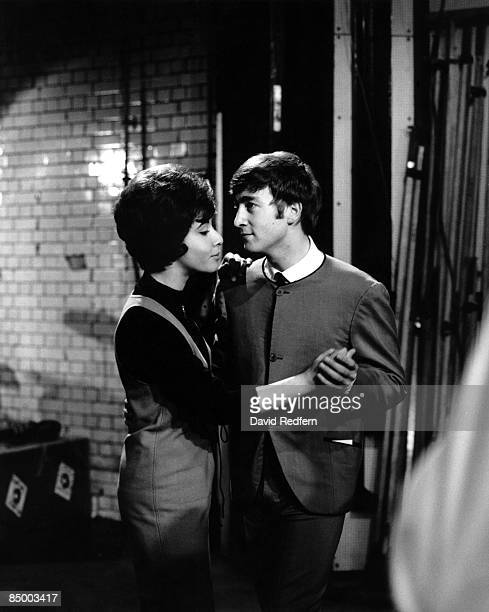 English singer Helen Shapiro dances with John Lennon of The Beatles during rehearsals for the Associated Rediffusion music television show Ready...