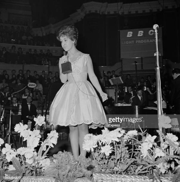 English singer Helen Shapiro performs live on stage during a BBC Light Programme 'Pop' concert at the Royal Albert Hall in London on 14th March 1963