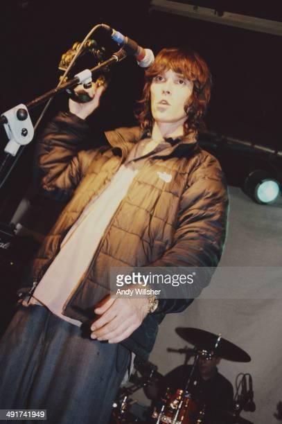 English singer Ian Brown performing at The Borderline London circa 2001