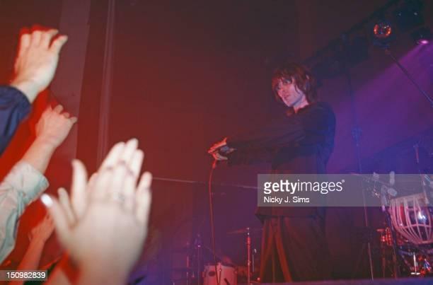 English singer Ian Brown performing solo at Conway Hall London 11th November 1999