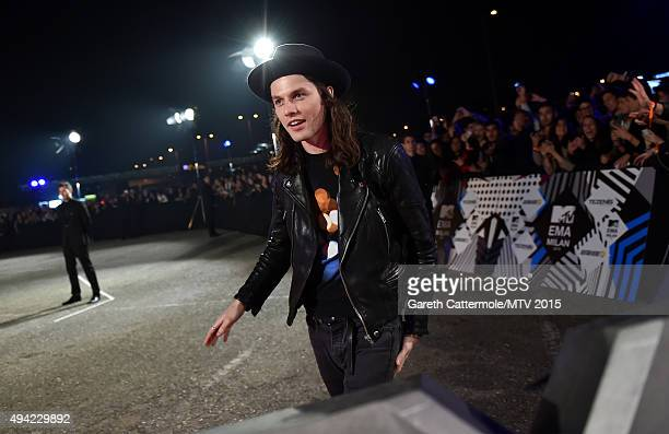 English singer James Bay attends the MTV EMA's 2015 at the Mediolanum Forum on October 25 2015 in Milan Italy