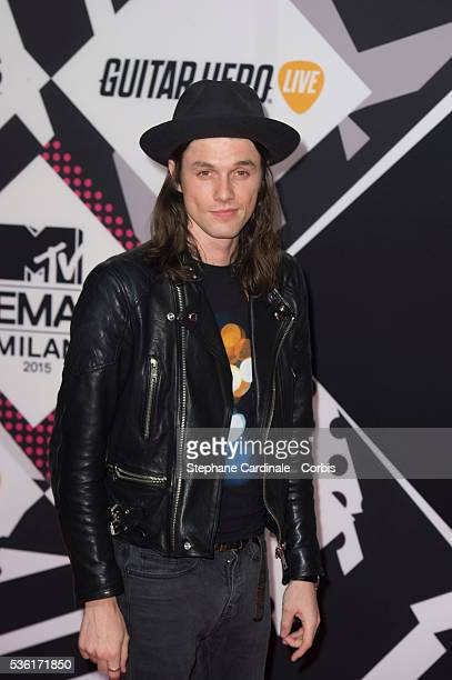 English singer James Bay attends the MTV EMA's 2015 on October 25, 2015 in Milan, Italy.