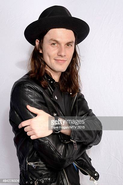 English singer James Bay poses for a portrait before the MTV EMA's at the Mediolanum Forum on October 25 2015 in Milan Italy