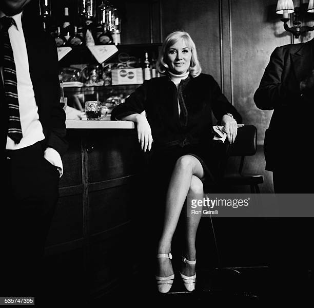 English singer Janie Jones posing after her acquittal on vice charges ,18th May 1967.