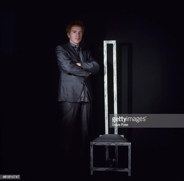 English singer John Lydon formerly of the Sex Pistols and Public Image Ltd London 7th November 1983