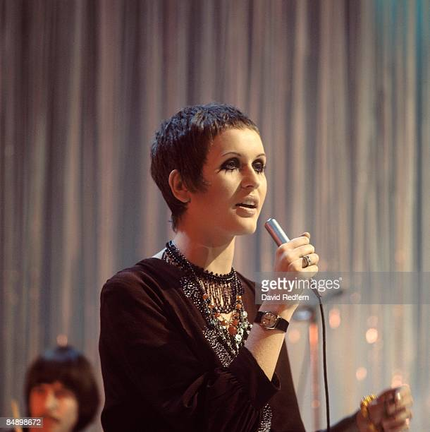 English singer Julie Driscoll performs on a television show in London circa 1968