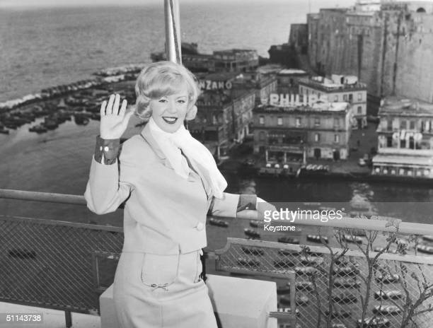 English singer Kathy Kirby in Naples where she will be competing in the Eurovision Song Contest with her song 'I Belong' 19th March 1965