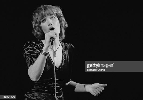 English singer Kiki Dee performing at Elton John's Christmas show at the Hammersmith Odeon London 21st December 1973