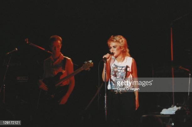 English singer Kim Wilde performing live circa 1982