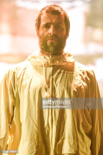 English singer Liam Gallagher performs on the stage of the Palazzo Dello Sport Rome February 15th 2020