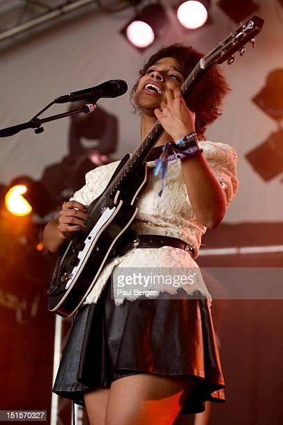 English singer Lianne La Havas performs on stage, Lowlands festival, Biddinghuizen, Netherlands, 17 August 2012.