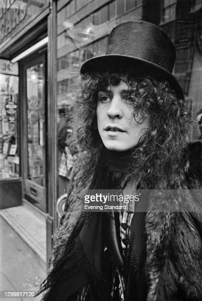 English singer Marc Bolan , frontman of rock band T. Rex, UK, 19th February 1972.