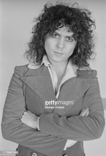 English singer Marc Bolan of British glam rock group T Rex posed on 20th November 1972.