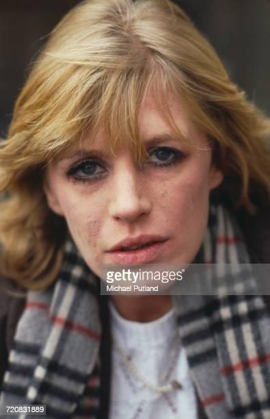 English singer Marianne Faithful, June 1982.