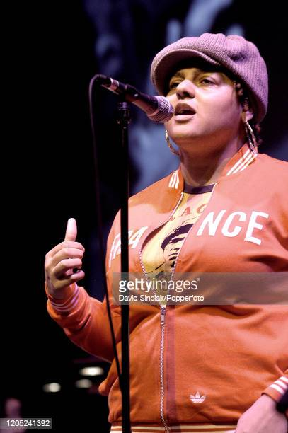 English singer Marsha Ambrosius performs live on stage in London on 21st April 2003.