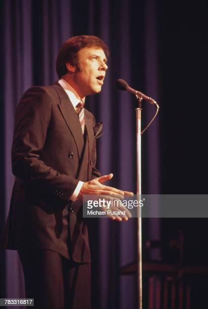 English singer Marty Wilde performs on stage at Theatre Royal Drury Lane in the Royal Variety Performance London 17th November 1981