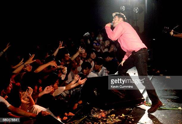 English singer Morrissey performing in Japan on his 'Kill Uncle' tour Japan AugustSeptember 1991
