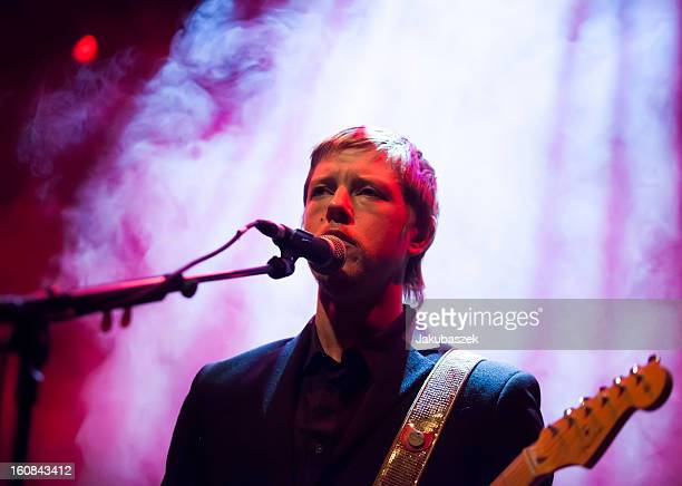 English singer Paul Banks performs live during a concert at the Kesselhaus on February 6 2013 in Berlin Germany