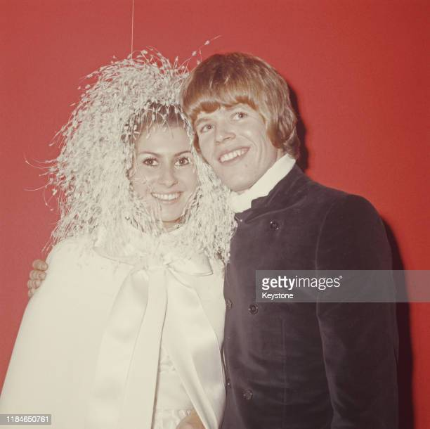 English singer Peter Noone of the pop group Herman's Hermits marries Mireille Strasser on his 21st birthday UK 5th November 1968