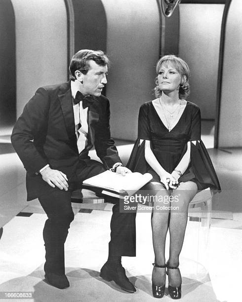 English singer Petula Clark and journalist and presenter David Frost on a TV show circa 1967