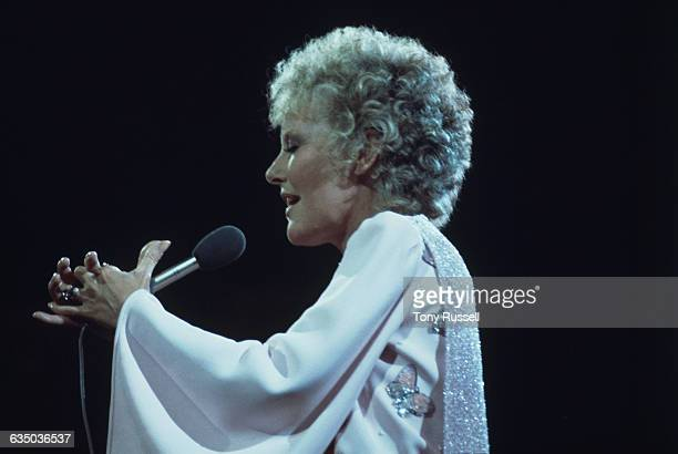 English singer Petula Clark performing a Valentine's Day Concert at the Royal Albert Hall, London, 14th February 1974. The performance was later...