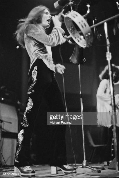 English singer Rod Evans performing with rock group Captain Beyond at the Roundhouse, Camden, London, 4th May 1972.