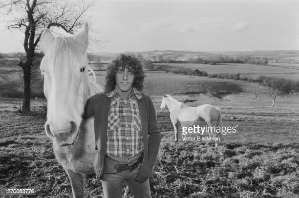 English singer Roger Daltrey, front man of rock band the Who, at Holmshurst Manor, his home near Burwash in the Sussex Weald, England, 7th December...