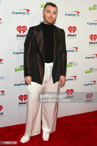 English singer Sam Smith arrives for the KIIS FM's iHeartRadio Jingle Ball at the Forum Los Angeles in Inglewood, California on December 6, 2019.