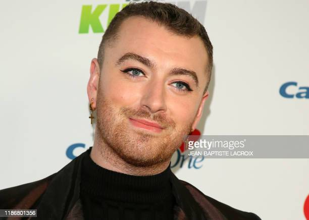 English singer Sam Smith arrives for the KIIS FM's iHeartRadio Jingle Ball at the Forum Los Angeles in Inglewood California on December 6 2019
