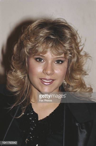 English singer Samantha Fox wins the 1985 Head of the Year award, January 1986.